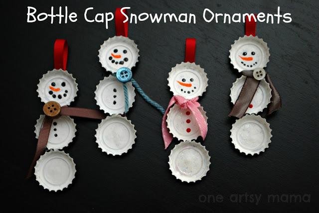 bottle-cap-snowman