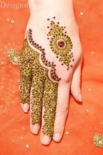 half moon henna picture