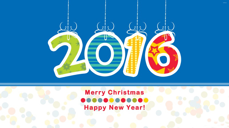 Merry Christmas-Happy New Year 2016 Wallpaper