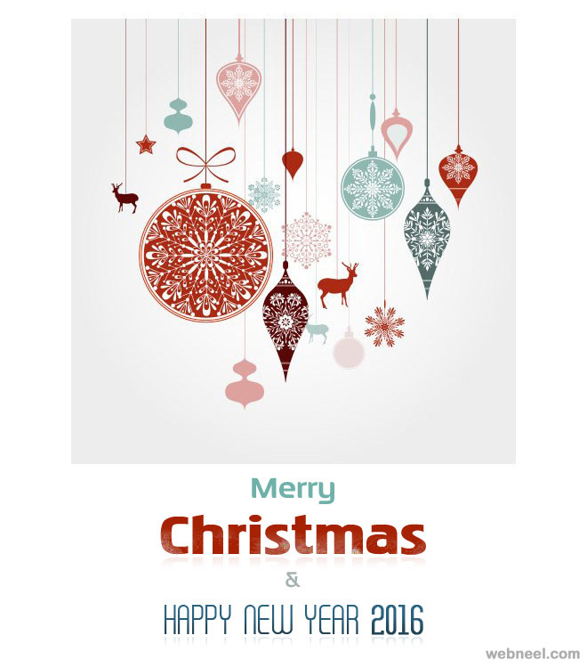 Merry Christmas & Happy New Year 2016 Wish Card