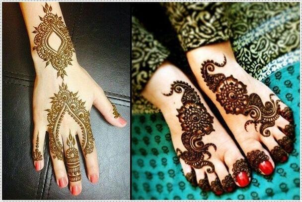 Thick Mehndi Pattern