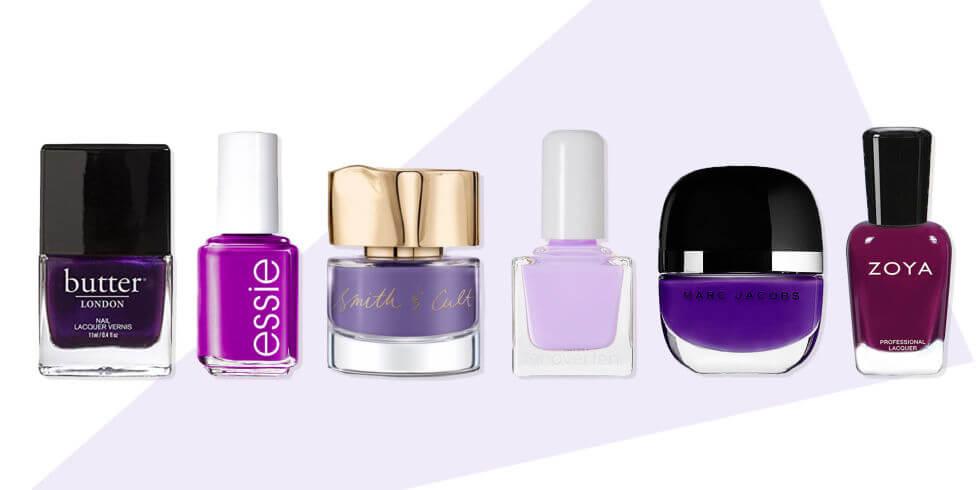 decide-the-color purple nail polish