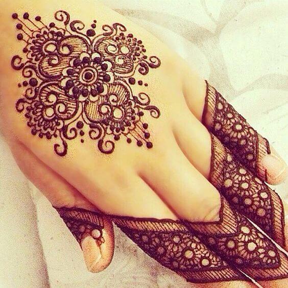 henna flower picture