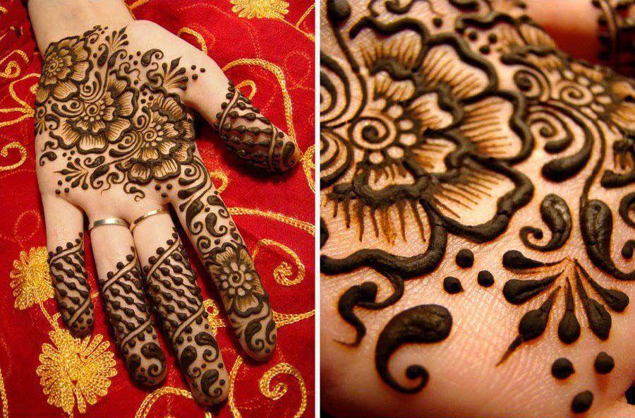 henna hand designs