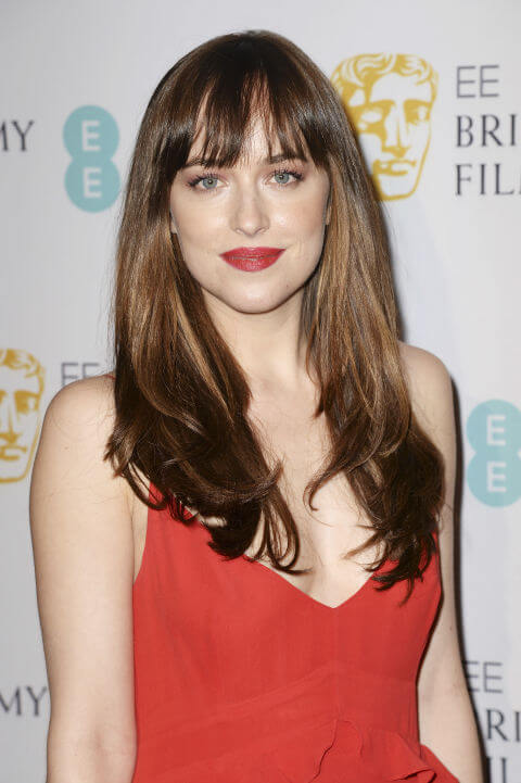 Dakota Johnson Long Bangs