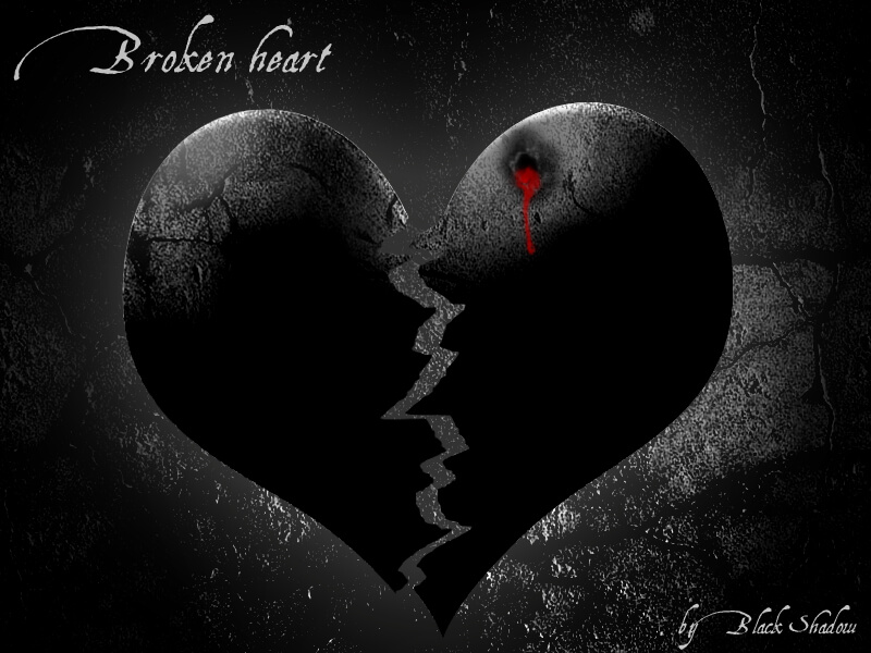 broken heart dark drained