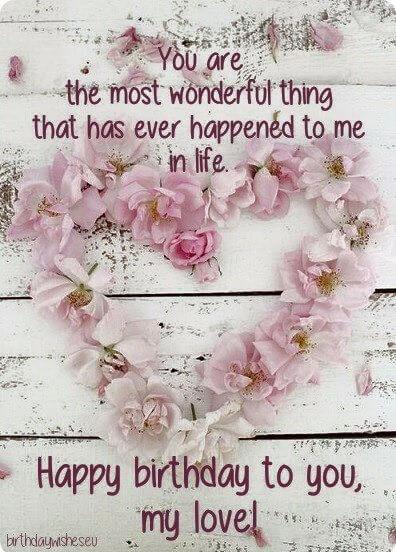 happy birthday to you my love