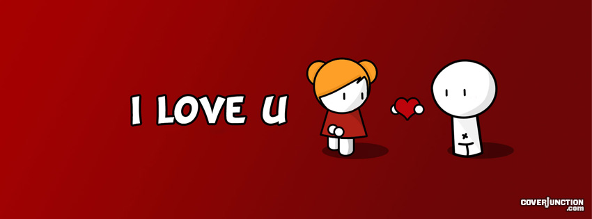 i love you cute facebook timeline cover