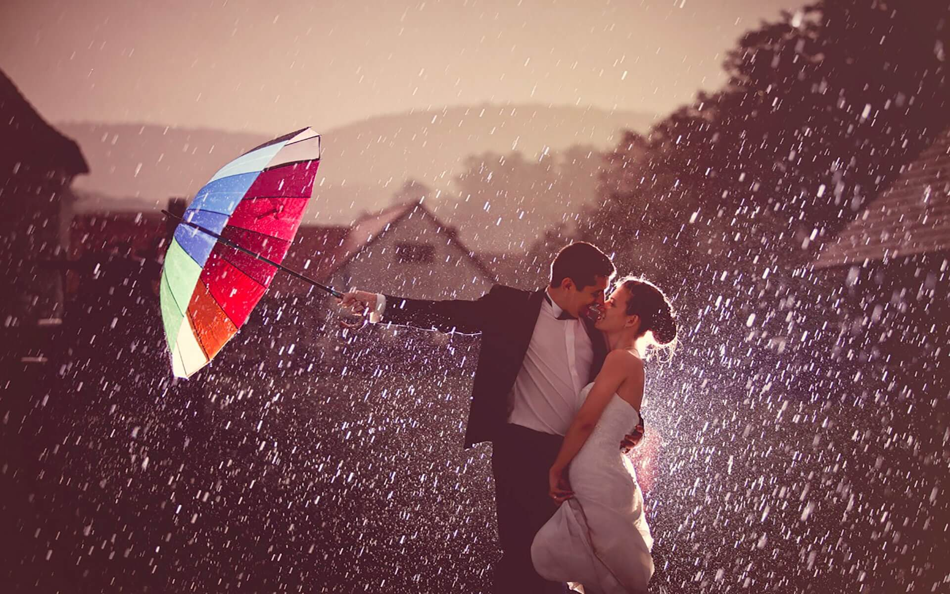 romantic rainy wallpaper - photo #6