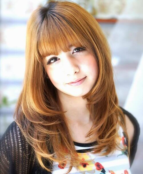 Hairstyles For Straight Hair With Bangs And Layers : Trendy long hairstyles with bangs for girls