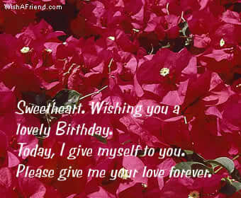 sweetheart wishing you a lovely birthday