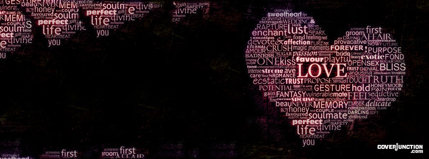 words of love facebook cover picture