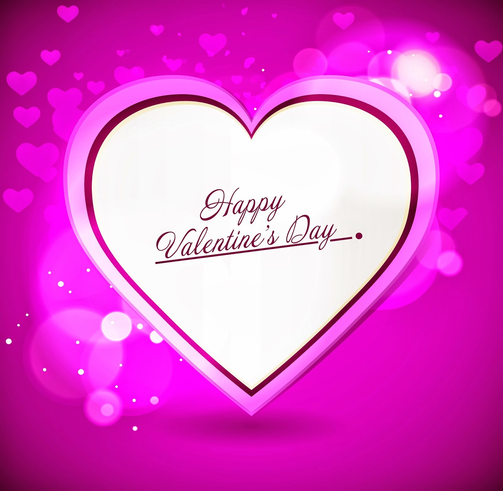 Happy Valentines Day pink background picture