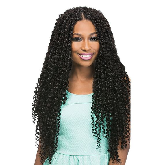 Long spiral curl crochet braiding