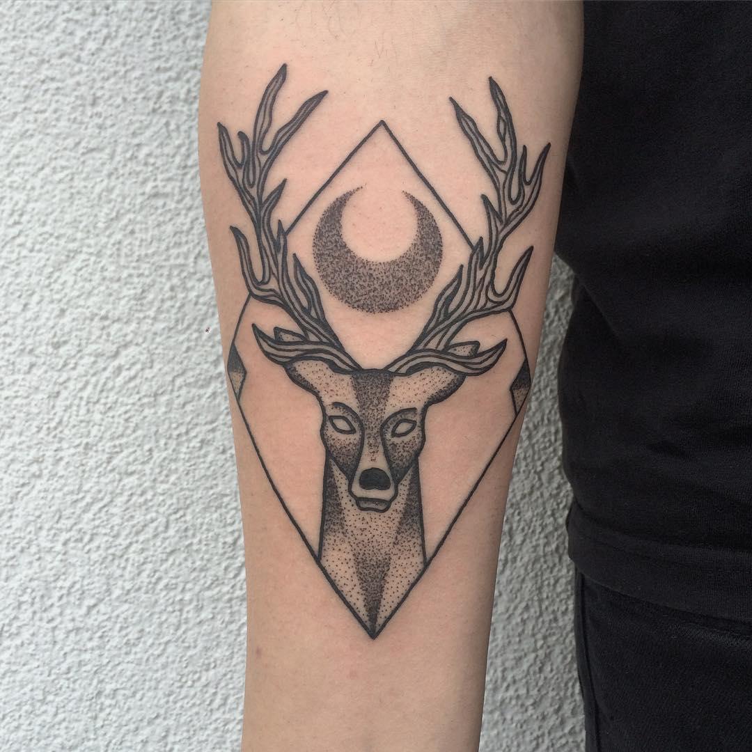 Moon Deer in a Rhombus