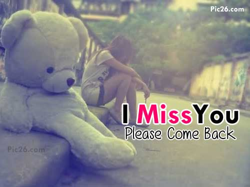 i miss you alone girl and teddy bear
