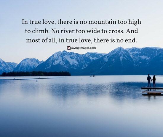 no end in true love quote picture