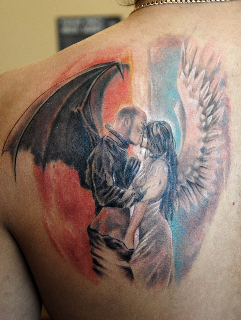 20+ Great Devil and Angel Tattoo Designs | EntertainmentMesh