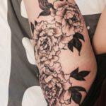Beautiful Black and White Flower Tattoos