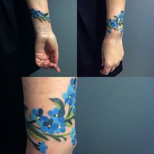 Bracelet forget me not tattoo