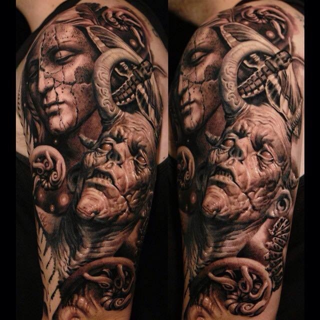 Detailed-and-realistic-women-angel-and-devil-pattern