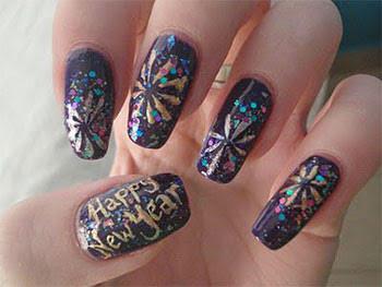 Easy New Year Nail Art