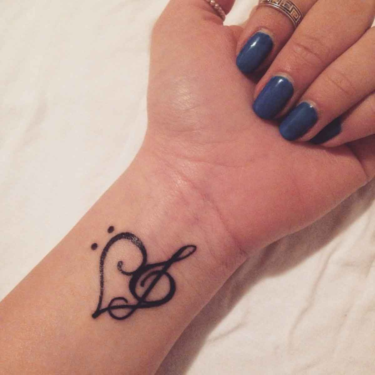 I love music tattoo symbol