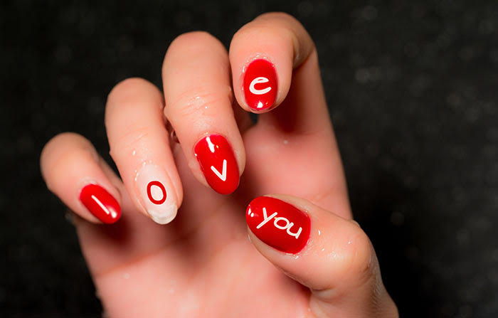 Love Message Nail Manicure