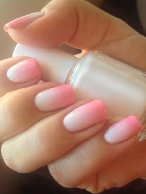 Pink Gradient Mani