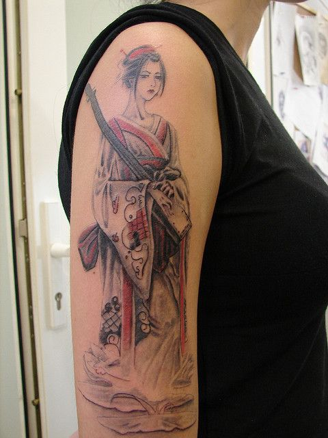 Shamisen tattoo