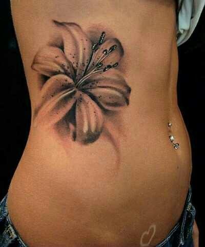Wonderful fine patterned lily flower
