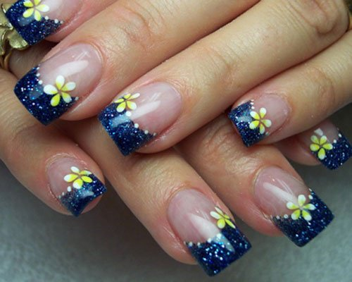 cool flower spring nails