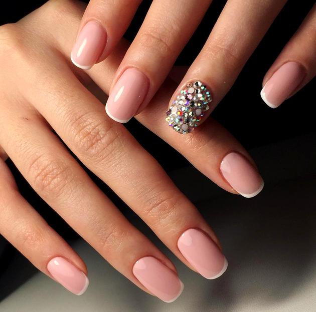 glamorous french manicure