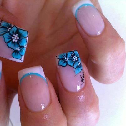 pink mint purple-blue lilac pastel spring nails