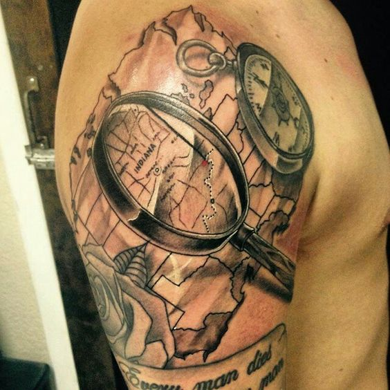 magnifying glass tattoo