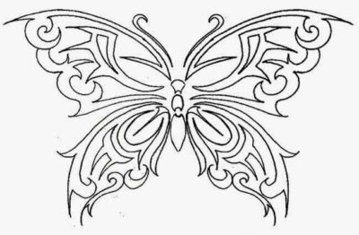 Free Printable Butterfly Tattoo Patterns