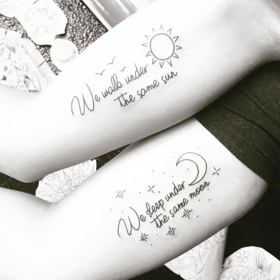 Best Quote For Tattoo: Best Friends Quote Tattoo Designs