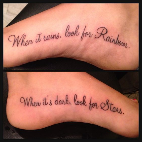 simple friendship quote tattoo