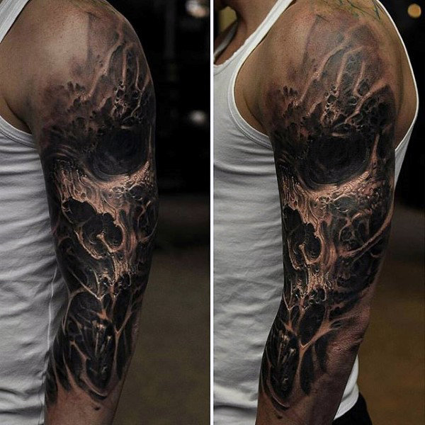 21 Catchy Black Ink Tattoos Designs By Hugo: 25 Awesome Arm Tattoo Ideas For Black Men