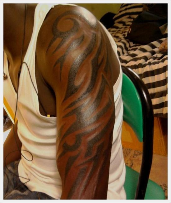 tribal tattoo pattern for black men