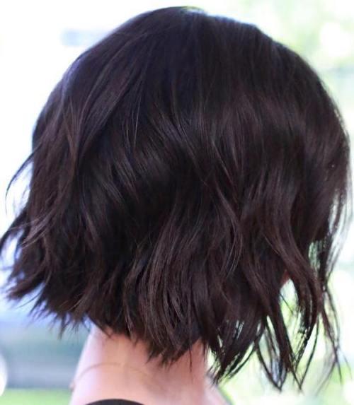 choppy wavy bob hairstyle