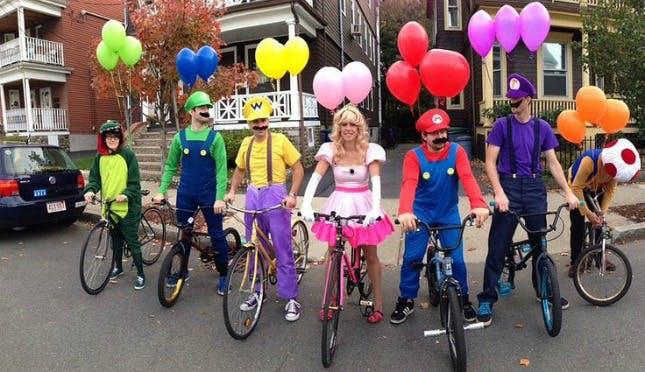 Go Mario Kart group halloween costume ideas