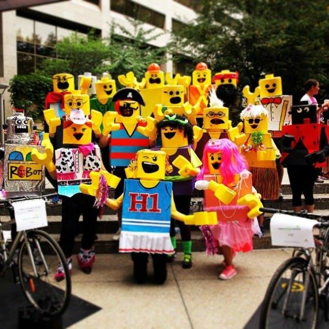 Lego world theme costume for halloween group