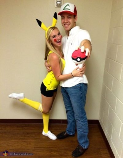 diy cute funny Pokemon couples halloween costume