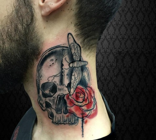 21 Impressive Tattoos On Neck For Personifying Your Style