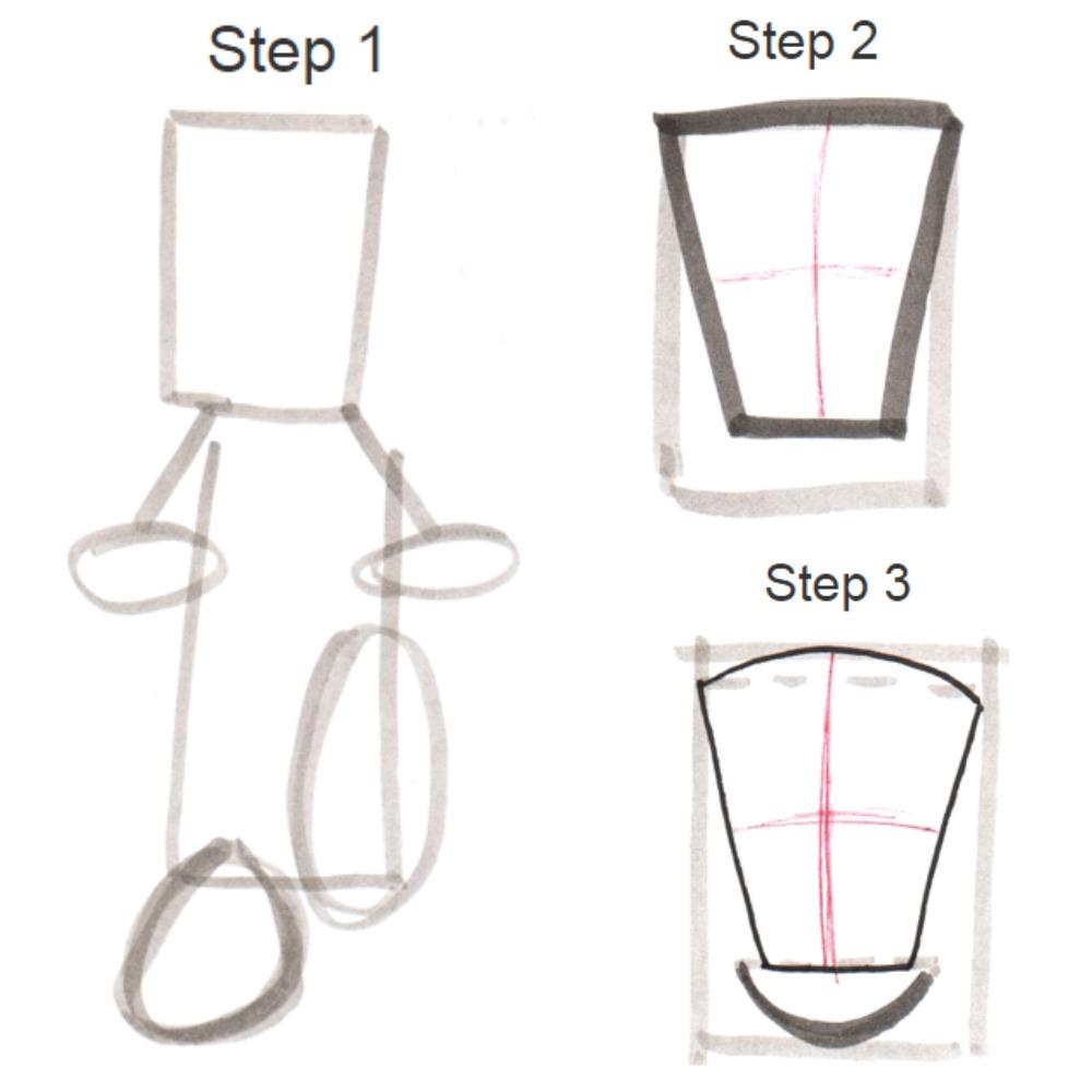 How to draw Frankenstein?