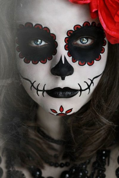 Awesomely Scary Sugar skull Face paint