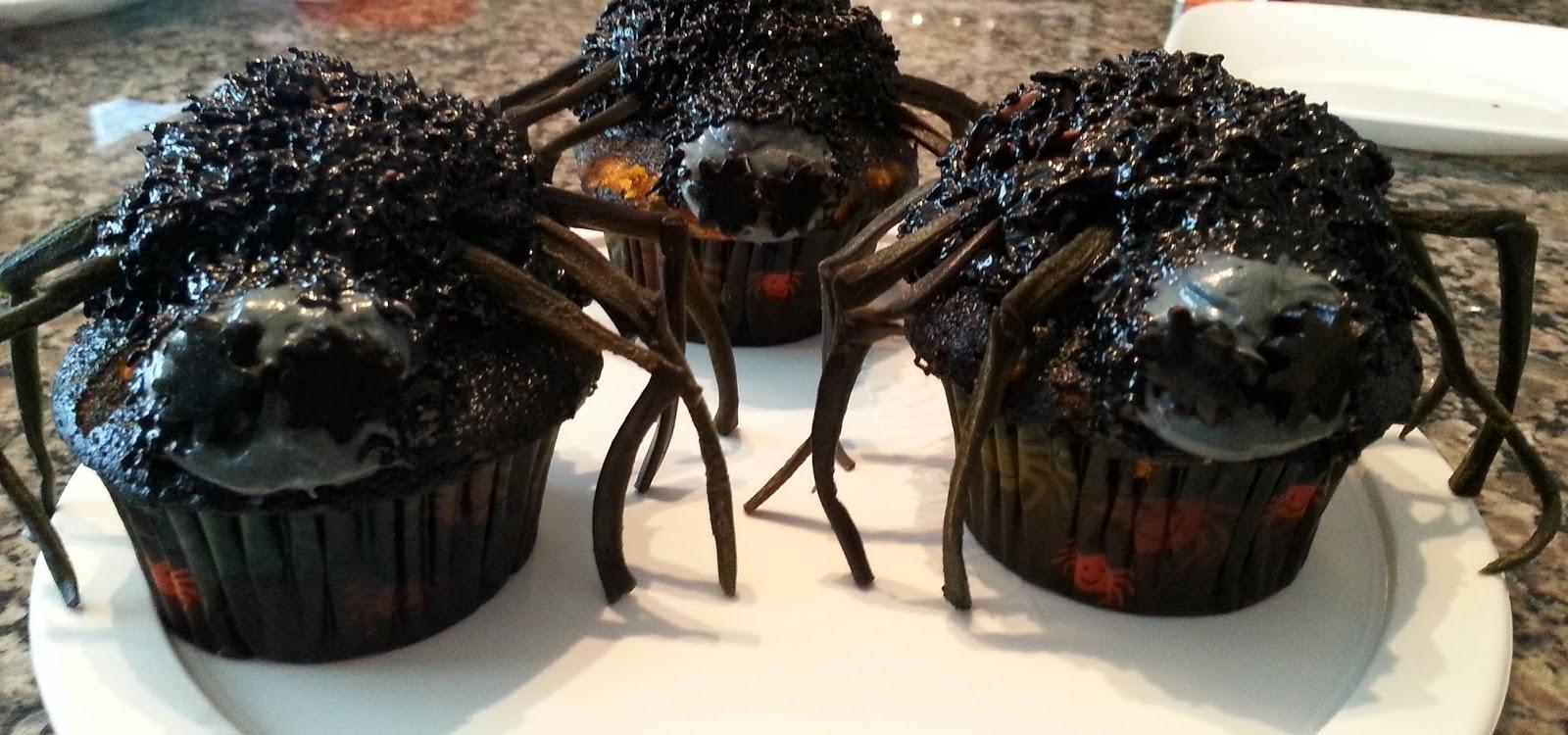 Creepy Halloween Spider Cupcakes ideas