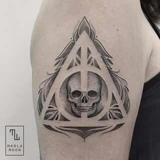 Deathly Hallows Skull Tattoo