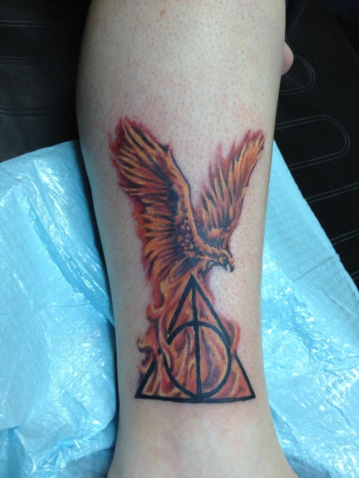 Deathly Hallows Phoenix Tattoo